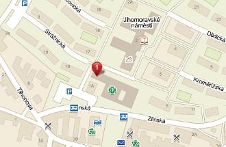 mapa Veterina Brno-Slatina